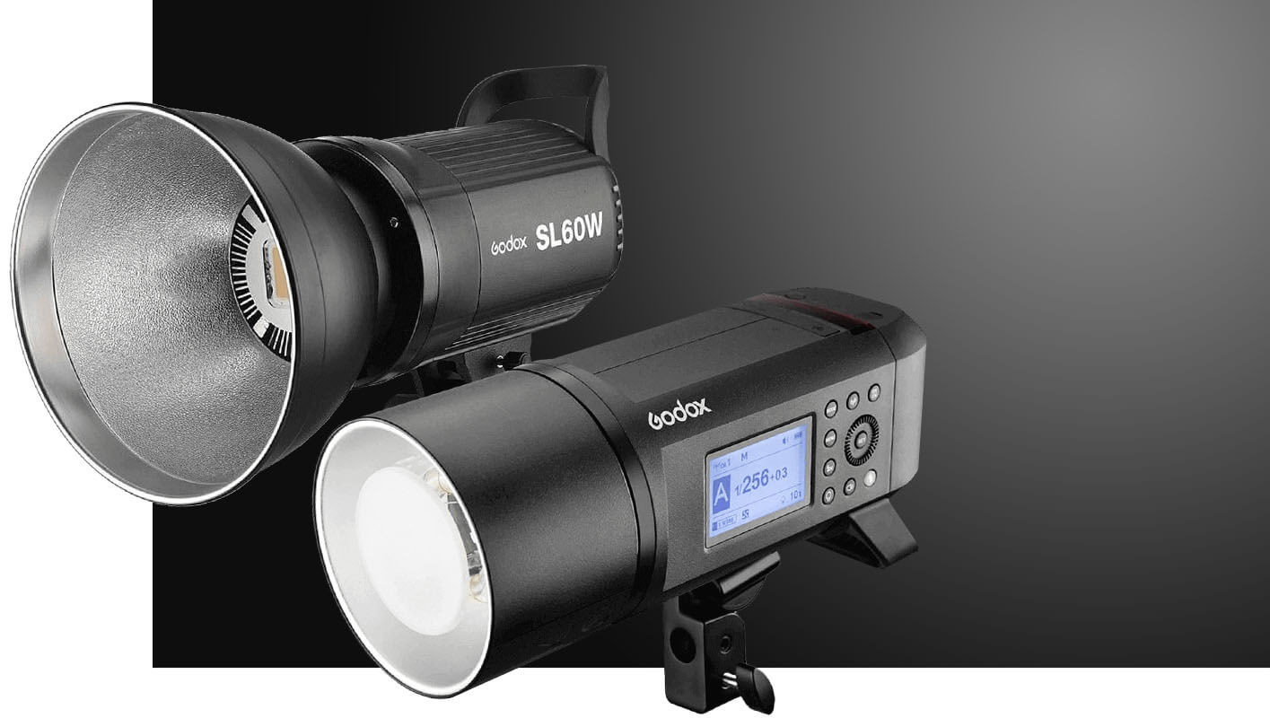 Godox studio and outdoor lamps