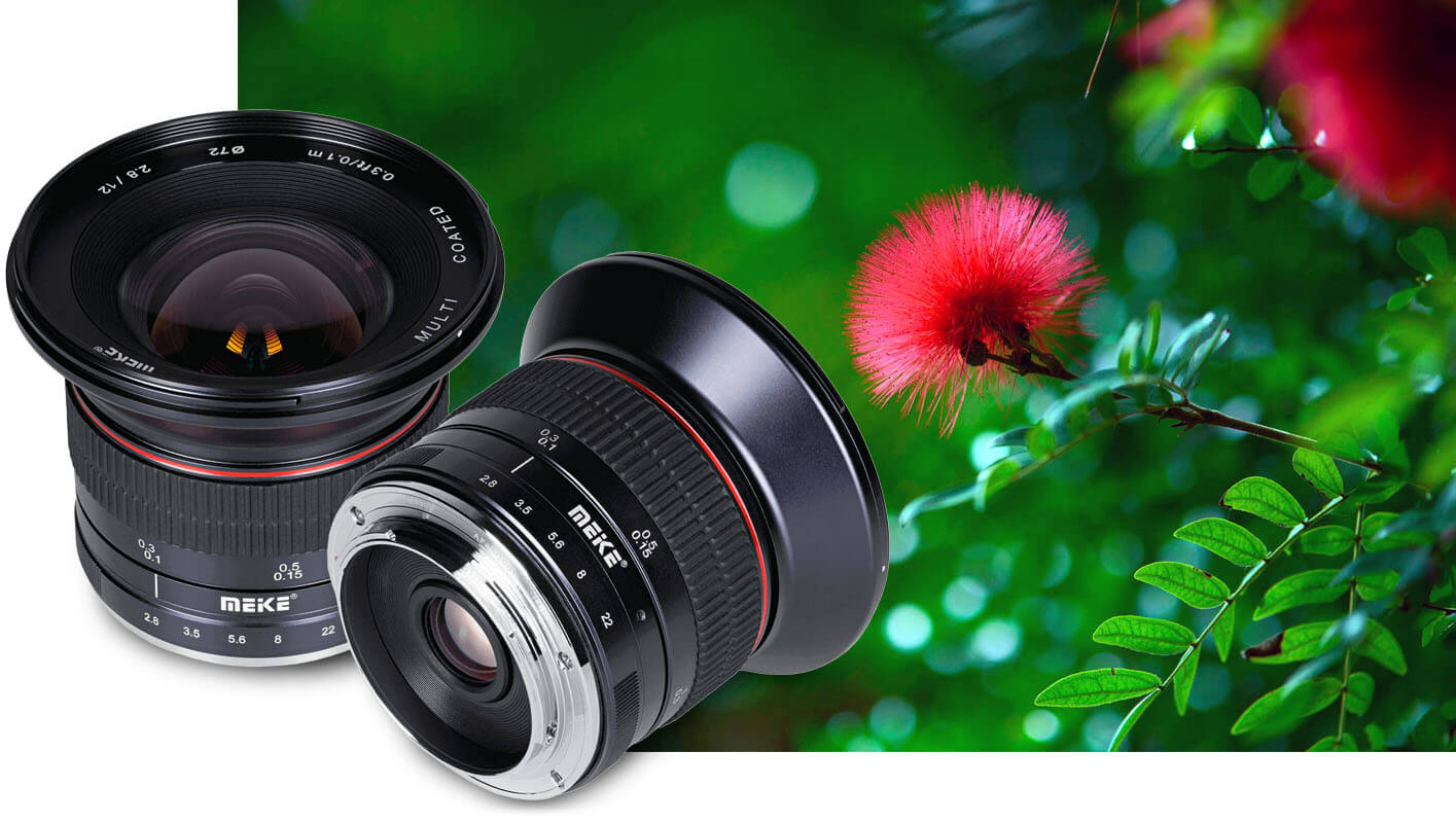 Meike photographic lenses and accessories