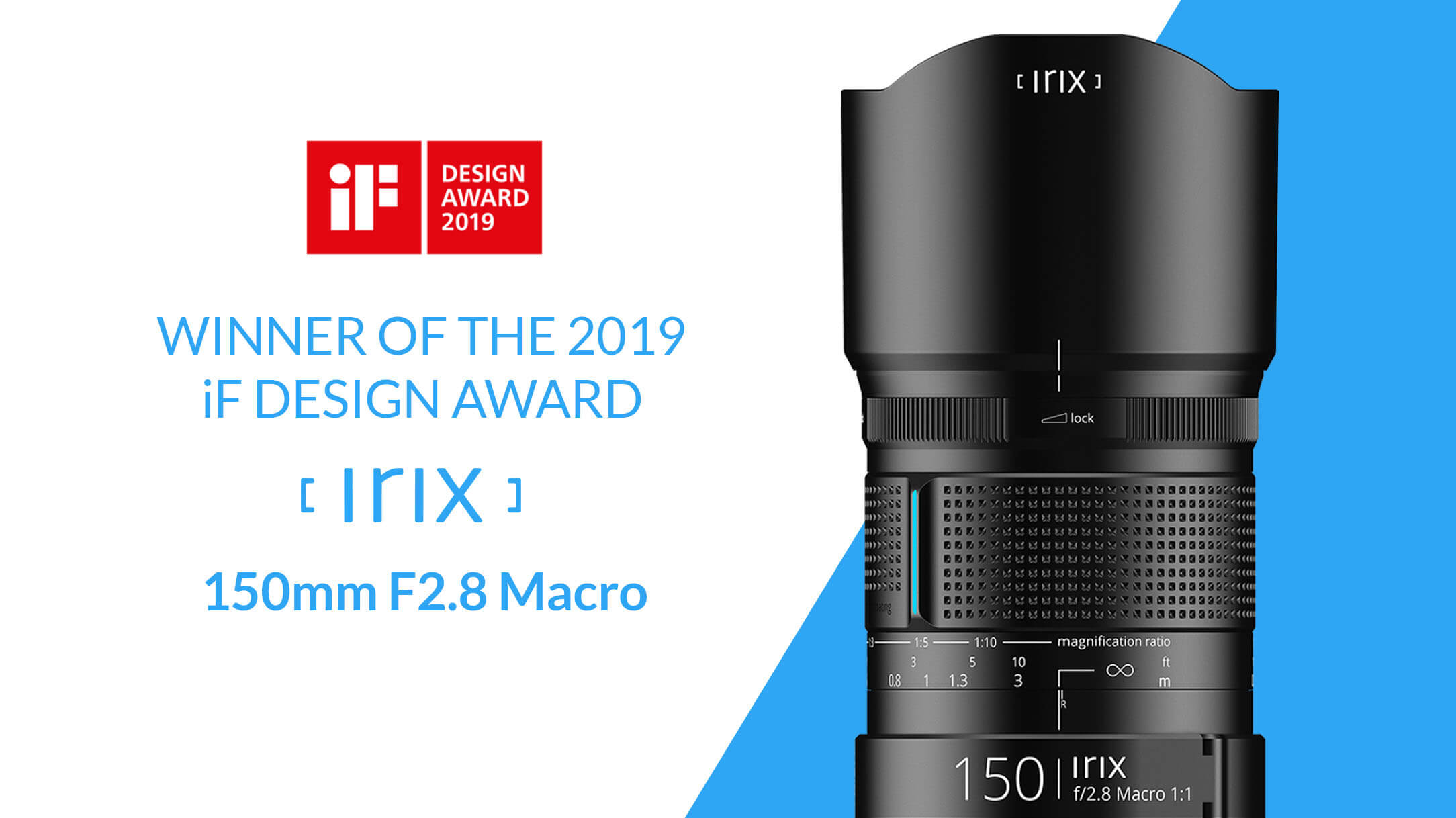 Irix 150mm f2.8 11 Macro z nagrodą iF Design Award 2019
